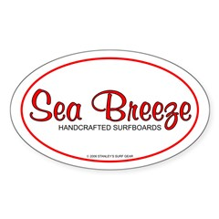 Sea Breeze SurfboardsOval Decal