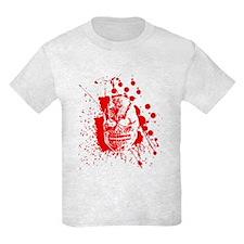 Creepy Splattered Blood Skull T-Shirt