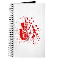 Creepy Splattered Blood Skull Journal