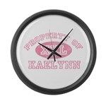 Property of Kaelynn Large Wall Clock