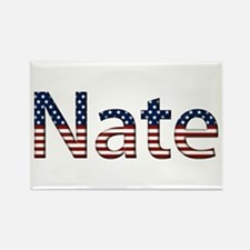 Nate Stars and Stripes Rectangle Magnet