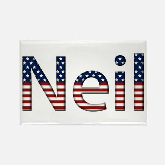 Neil Stars and Stripes Rectangle Magnet