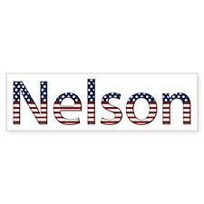 Nelson Stars and Stripes Bumper Bumper Sticker