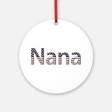 Nana Stars and Stripes Round Ornament