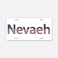 Nevaeh Stars and Stripes Aluminum License Plate