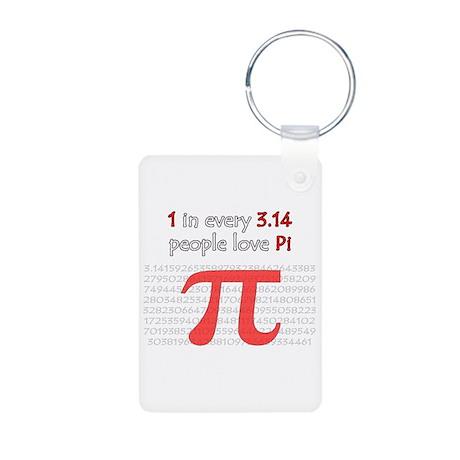 3.14 Pi Humor Aluminum Photo Keychain