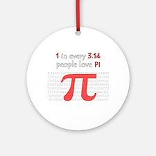 3.14 Pi Humor Ornament (Round)