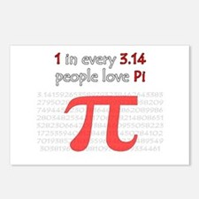 3.14 Pi Humor Postcards (Package of 8)