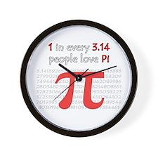 3.14 Pi Humor Wall Clock