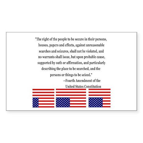 4th Amendment & Upside Down Flag Sticker (Rectangu