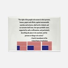 4th Amendment & Upside Down Flag Rectangle Magnet