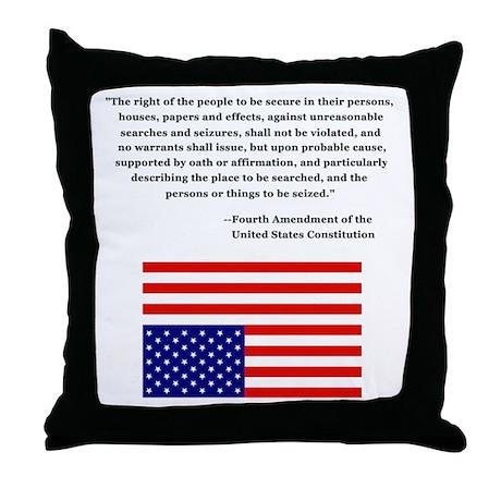 4th Amendment & Upside Down Flag Throw Pillow