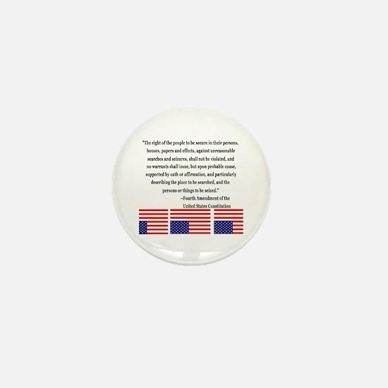 4th Amendment & Upside Down Flag Mini Button