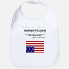 4th Amendment & Upside Down Flag Bib