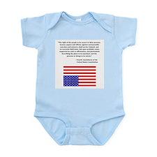 4th Amendment & Upside Down Flag Infant Creeper