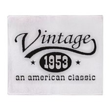 Vintage 1953 Birthday Throw Blanket