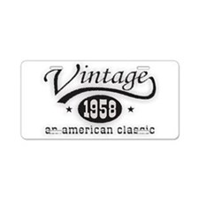Vintage 1958 Aluminum License Plate