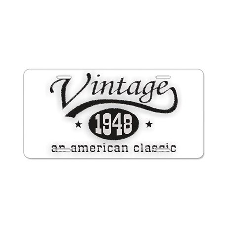 Vintage 1948 Birthday Aluminum License Plate