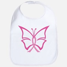 Pink Ribbon Butterfly Bib