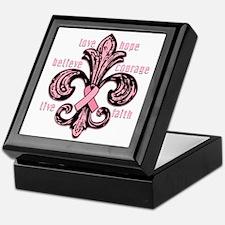 Pink Fleur Ribbon Keepsake Box