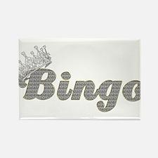 Bingo Queen Gold Diamonds Rectangle Magnet