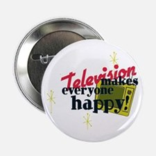 """Atomic Age Television 2.25"""" Button (10 pack)"""