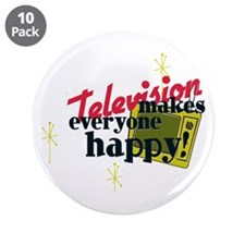 "Atomic Age Television 3.5"" Button (10 pack)"