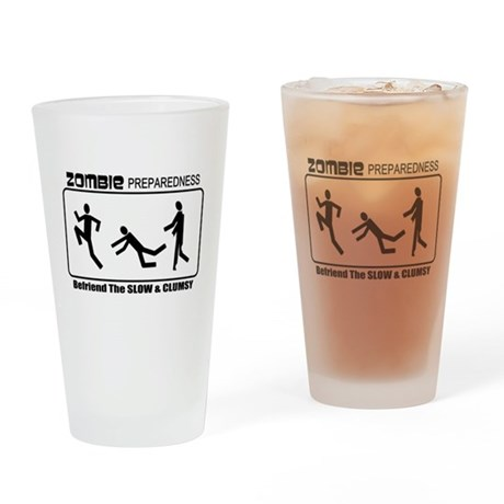 Zombie Prepared SLOW Drinking Glass