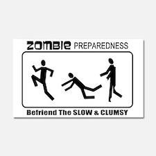 Zombie Prepared SLOW Car Magnet 20 x 12