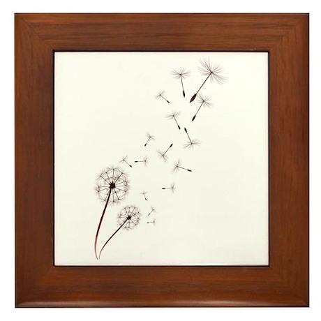Dandelion Framed Tile