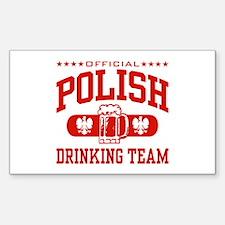 Polish Drinking Team Rectangle Decal