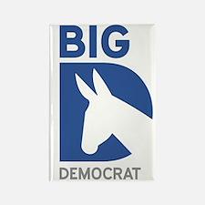 Big D Democrat Rectangle Magnet