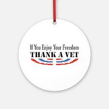 Thank a Vet Ornament (Round)
