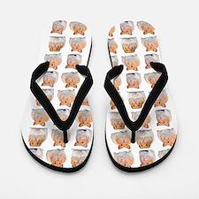 Hamster Invasion Flip Flops