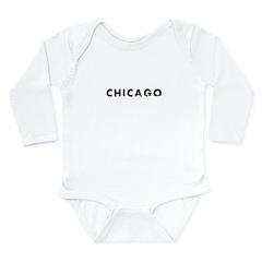 Chicago Long Sleeve Infant Bodysuit