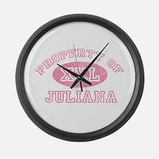 Property of Juliana Large Wall Clock