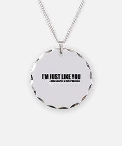 Just like you Necklace Circle Charm
