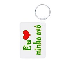 I Love Grandma (Port/Brasil) Keychains
