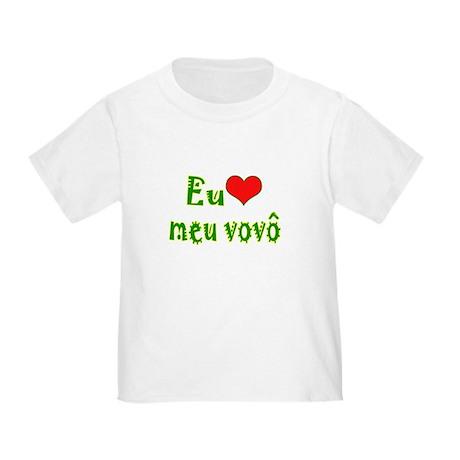 I Love Grandpa (Port/Brasil) Toddler T-Shirt