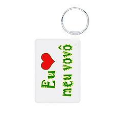 I Love Grandpa (Port/Brasil) Keychains