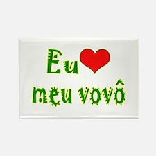 I Love Grandpa (Port/Brasil) Rectangle Magnet