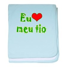 I Love Uncle (Port/Brasil) baby blanket
