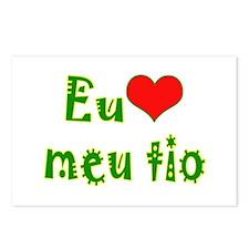 I Love Uncle (Port/Brasil) Postcards (Package of 8