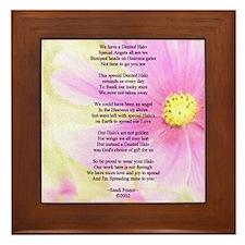 Brain Surgery Support Poem Framed Tile