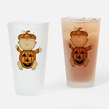 Cute Pumpkin Baby Drinking Glass