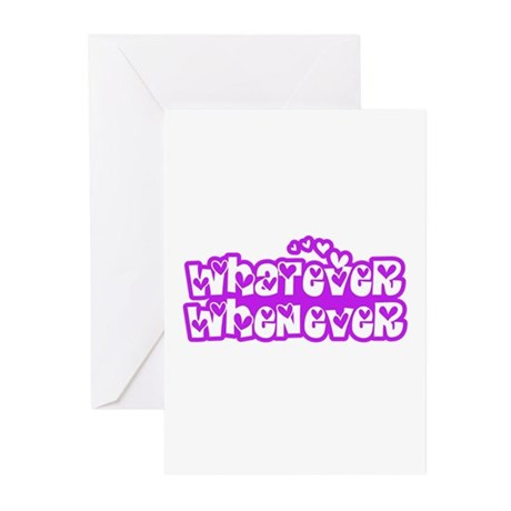 Whatever Whenever 01_Blue Greeting Cards (Pk of 20