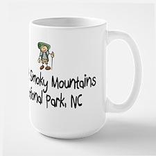 Hike Smoky Mtns, NC (Boy) Large Mug