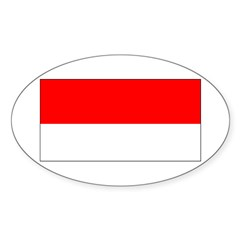 Indonesia Indonesian Blank Fl Oval Sticker