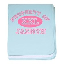 Property of Jazmyn baby blanket
