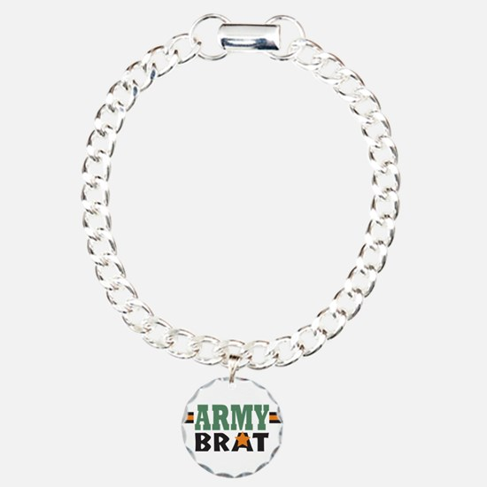 Military Army Brat Charm Bracelet, One Charm